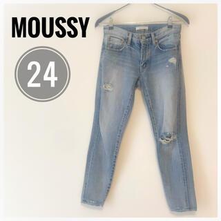 マウジー(moussy)の【大人気‼︎】MOUSSY マウジー レディース デニム ジーンズ 24サイズ(デニム/ジーンズ)