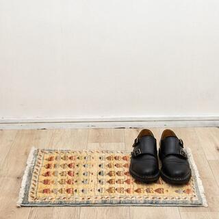 58x39cm 手織り ヴィンテージ アフガン 絨毯 ペルシャ ギャッベ