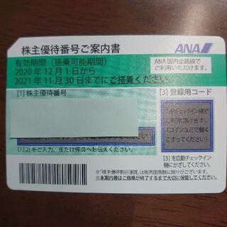 ANA株主優待1枚 有効期限は2021年11月30日(航空券)