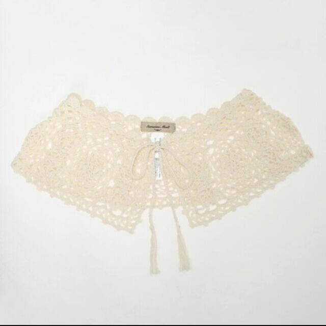 SM2(サマンサモスモス)のサマンサモスモス 手編みかぎ針レース付け衿 付け襟 付け衿 レディースのアクセサリー(つけ襟)の商品写真