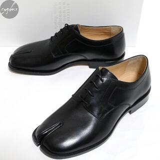 マルタンマルジェラ(Maison Martin Margiela)の41 メゾンマルジェラ タビ レザー レースアップ シューズ 黒 新品 革靴(その他)