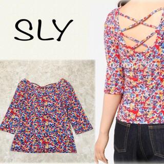 スライ(SLY)のSLY♡バックレースアップトップス(Tシャツ(長袖/七分))