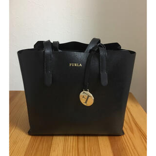 Furla - [美品]フルラ サリー s ブラック ハンドバッグ トートバッグ トート