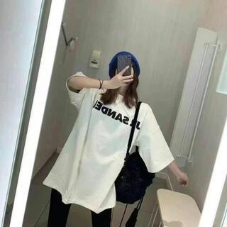 ジルサンダー(Jil Sander)の大人気中 JIL SANDER ジルサンダー オーバーサイズ ロゴ Tシャツ(Tシャツ(半袖/袖なし))