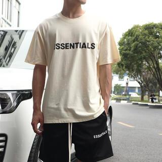 フィアオブゴッド(FEAR OF GOD)のFOG - Fear Of God Essentials  Tシャツ クリームS(Tシャツ/カットソー(半袖/袖なし))