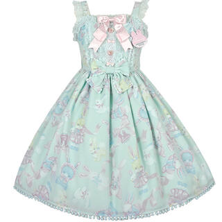 Angelic Pretty - Moco moco bunnysジャンパースカート 限定ミント