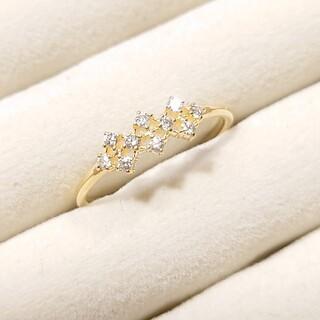 ココシュニック(COCOSHNIK)の【お値下げ】ココシュニック k18 ダイヤモンド リング 8号(リング(指輪))