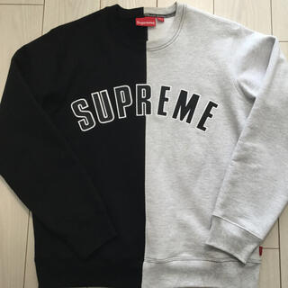 Supreme - Supreme アーチロゴ logo スウェット シュプリーム  split 黒