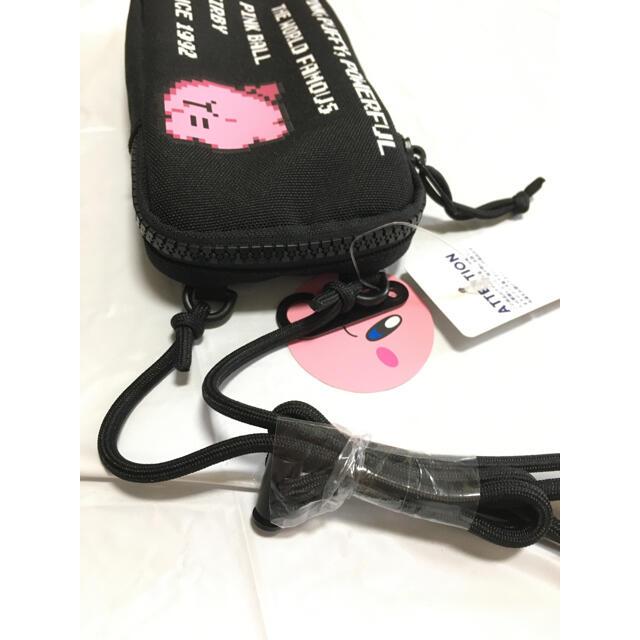 【GU  新品タグ付き】ネックポーチ Kirby カービィ ブラック メンズのバッグ(ショルダーバッグ)の商品写真