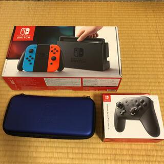 Nintendo Switch - Nintendo Switch 本体、コントローラー、ケース、3点セット
