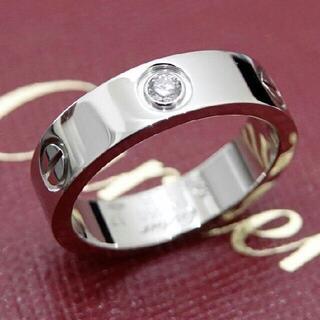 カルティエ(Cartier)のカルティエ プラチナ ラブ 1P ダイヤ リング(リング(指輪))