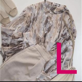 しまむら - しまむら シフォンバンドカラーガラシャツ L