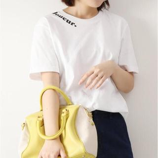 スピックアンドスパン(Spick and Span)のLes Petits Basics Tシャツ Joueur black neck(Tシャツ(半袖/袖なし))