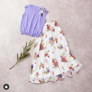 アンドクチュール(And Couture)のAndcouture♡花柄♡フラワードットスカート♡(ロングスカート)