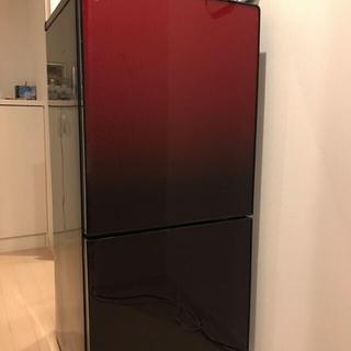 ユーイング 2ドア冷蔵庫 レッド