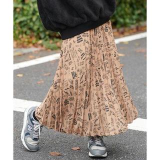 ミルクフェド(MILKFED.)の新品♡ミルクフェド オリジナルプリント柄プリーツスカート ロングスカート(ロングスカート)