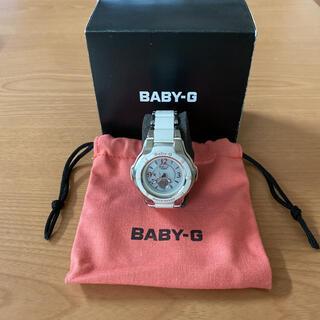 ベビージー(Baby-G)のCASIO BABY-G レディース5145※JAホワイトシルバー ソーラー式(腕時計)