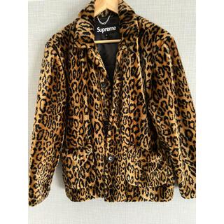 PEACEMINUSONE - supreme  leopard  fur jacket