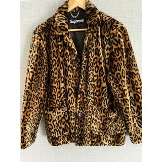 ピースマイナスワン(PEACEMINUSONE)のsupreme  leopard  fur jacket(ブルゾン)