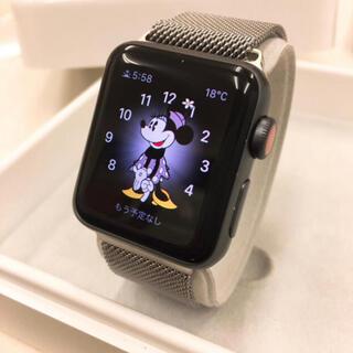 Apple Watch - アップルウォッチ series3 セルラー Apple Watch 38mm 黒