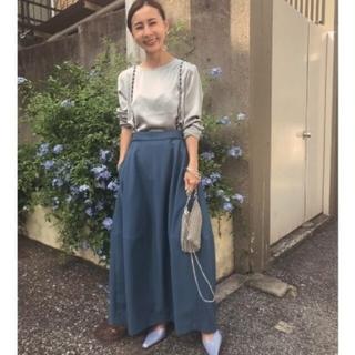 Ameri VINTAGE - CHAIN SUSPENDER SKIRT 青 M アメリ