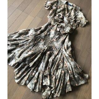 ラルフローレン(Ralph Lauren)の美品 RALPH LAUREN シルクフラワーブラウスとスカート(セット/コーデ)