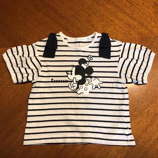 THE SHOP TK - THE SHOP TK Tシャツ 半袖 100 ミニー ディズニー ボーダー柄