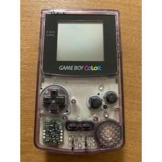 ゲームボーイ(ゲームボーイ)のゲームボーイカラー 本体 クリアパープル(携帯用ゲーム機本体)