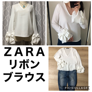 ZARA - ZARA リボンブラウス