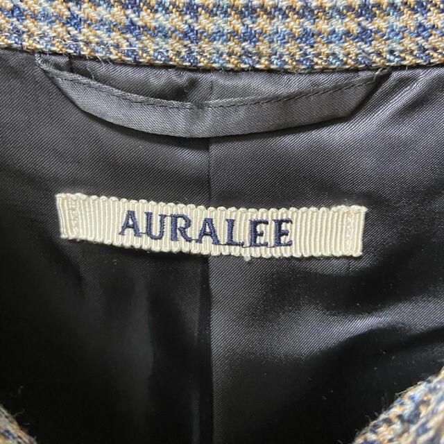 AURALEE 19AW ダブルフェイス チェック ブルゾン ブルー オーラリー メンズのジャケット/アウター(ブルゾン)の商品写真