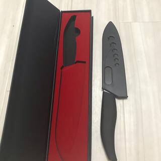 セラミック包丁 ナイフ 180mm 黒刃 キッチンナイフ 包丁 セラミックナイフ(調理道具/製菓道具)