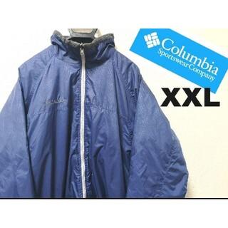 コロンビア(Columbia)のコロンビア ジャケット ナイロン 刺繍ロゴ ネイビー(マウンテンパーカー)