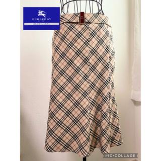 BURBERRY BLUE LABEL - バーバリーブルーレーベル マーメイドラインスカート ノバチェック