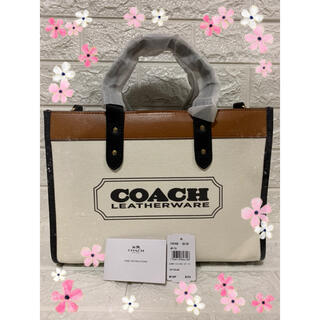 COACH - ★COACH★キャンバス フィールドトート30 人気バック 夏モデル ヨレ有