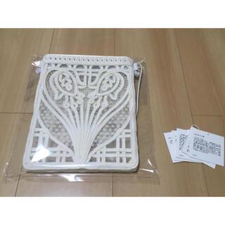マメ(mame)の希少 21SS mame kurogouchi コード刺繍バッグ ホワイト(ショルダーバッグ)