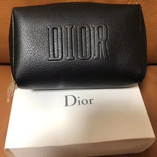 Christian Dior - 限定割引ディオール クリスマス限定 ノベルティ スクエア ポーチ ブラック