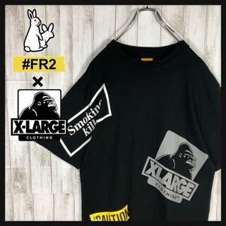 【超希少カラー】FR2 XLARGE コラボ Tシャツ バックプリント デカロゴ