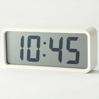 MUJI (無印良品) - ◎新品未開封◎  無印良品デジタル時計・中 掛置時計/ホワイト