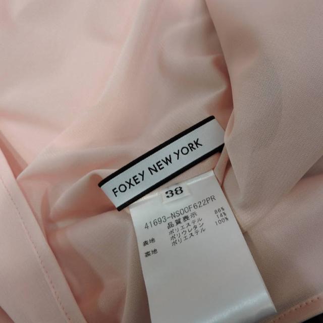 FOXEY(フォクシー)の紙タグありフォクシー パークアベニュー 38 サクラピンク  レディースのワンピース(ひざ丈ワンピース)の商品写真