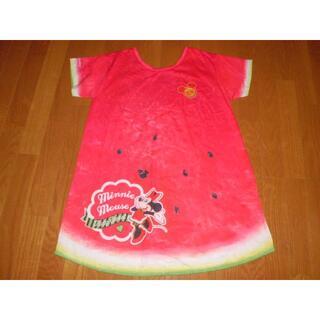 ディズニー(Disney)のTDRフルフルフルーツスイカTシャツワンピースディズニーミニー MサイズすいかT(Tシャツ(半袖/袖なし))