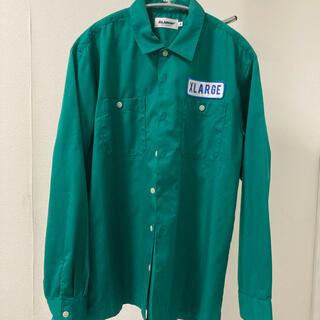 XLARGE - XLARGE ワークシャツ グリーン