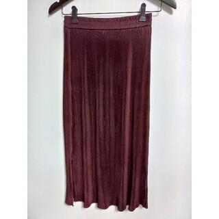 ココディール(COCO DEAL)のCOCODEAL ココディール ウエストゴムプリーツスカート 2 ブラウン(ロングスカート)