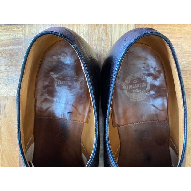 60s ビンテージ Florsheim フローシャイム Uチップ 8 1/2  メンズの靴/シューズ(ドレス/ビジネス)の商品写真
