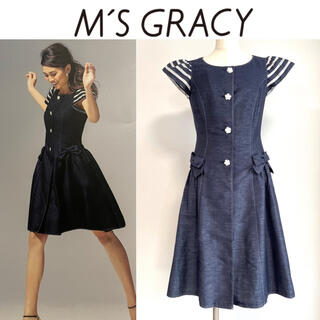 M'S GRACY - 美品◆人気完売♪カタログ掲載♪エムズグレイシー デニム コート ワンピース40