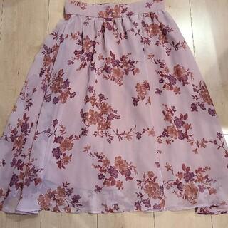 PROPORTION BODY DRESSING - 美品 プロポーションボディドレッシング くすみピンク 花柄 スカート サイズ3