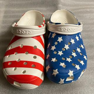 クロックス(crocs)のクロックス アメリカ 星条旗 カラー サンダル(サンダル)