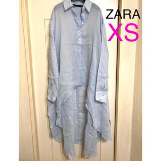 ZARA - 新品ZARA アシンメトリーロングシアーシャツXS