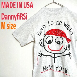 ART VINTAGE - USA製 アメリカ古着 DannyfiRSi  ビッグプリント Tシャツ