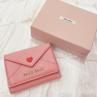 miumiu - MIUMIU マドラス ラブ 三つ折財布 ラブレター