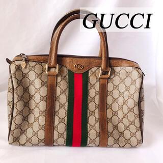 Gucci - 希少 高級 GUCCI オールドグッチ CG柄 ボストンバッグ シェリーライン